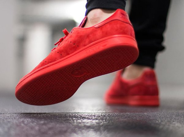 Adidas Stan Smith Suede Power Red (2)