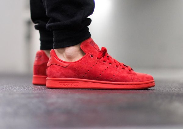 Adidas Stan Smith Suede Power Red (4)