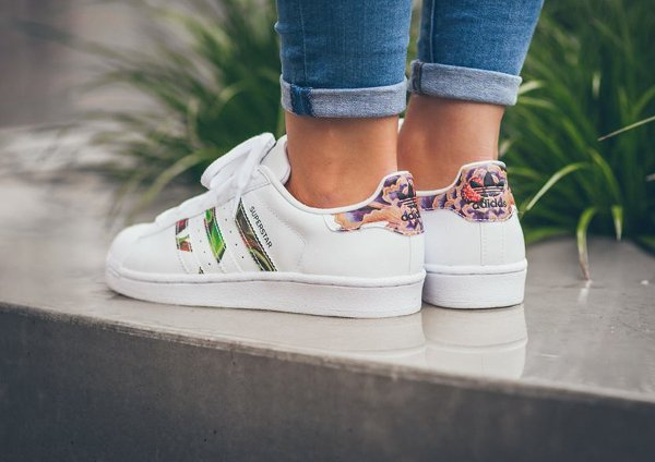 Adidas Superstar W Floral Stripes (2)