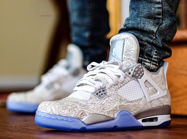 Air Jordan 4 White Metallic Silver - brollsole