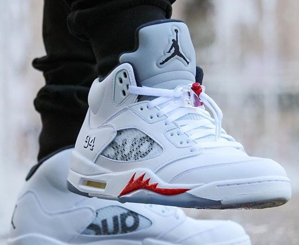 Air Jordan 5 x Supreme - @greatnotorious