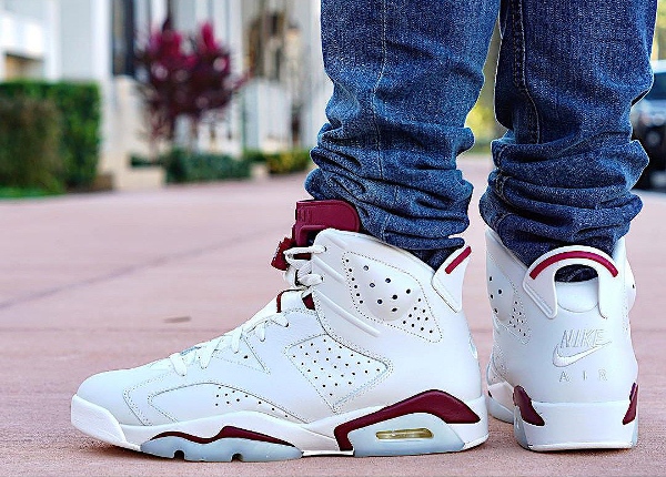 Air Jordan 6 Retro Maroon Nike Air 2015 pas cher (2)