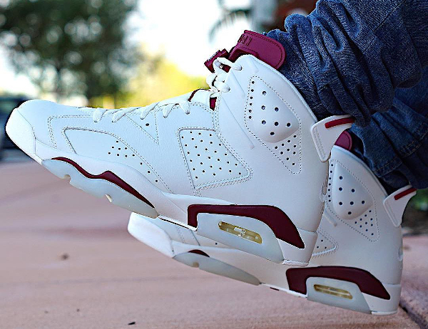 Air Jordan 6 Retro Maroon Nike Air 2015 pas cher (4)