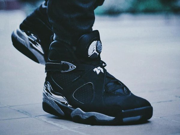 Air Jordan 8 Chrome Retro 2015 pas cher (1)