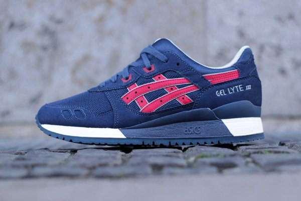 Asics Gel Lyte 3 Metro Indian Ink Tango Red pas cher (2)