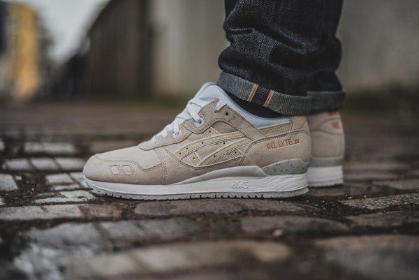 Asics Gel Lyte 3 Suede Rose Gold White pas cher (2)