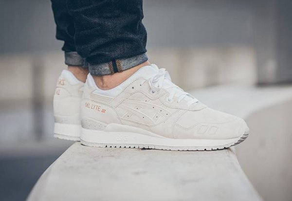 Asics Gel Lyte 3 Suede Rose Gold White pas cher (3)
