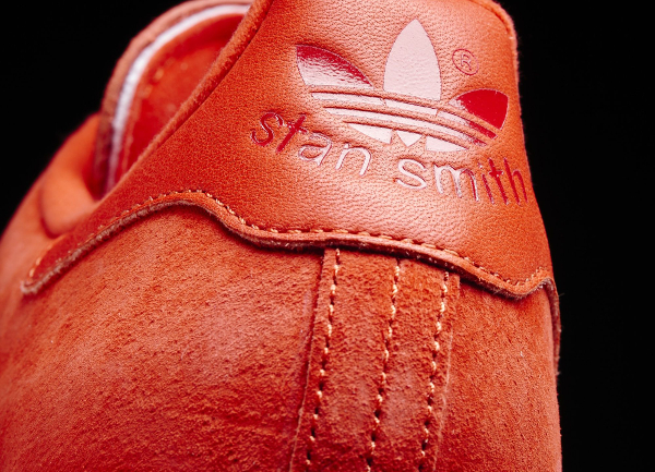 Basket Adidas Stan Smith en daim rouge homme & femme (10)