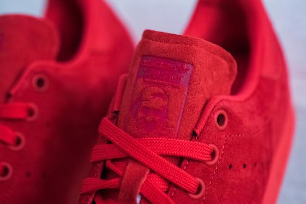 Basket Adidas Stan Smith en daim rouge homme & femme (4)
