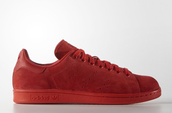 Adidas Stan Smith Suede 'Triple Red'
