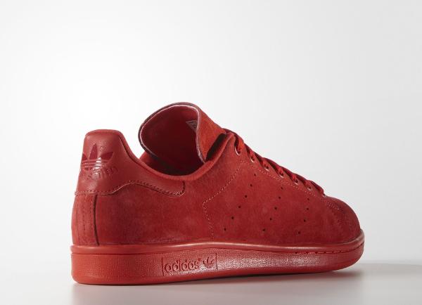 Basket Adidas Stan Smith en daim rouge homme & femme (9)