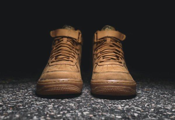 Basket Nike Air Force One Hi 07 LV8 Flax Wheat (4)