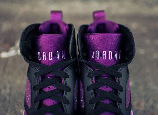 Basket Nike Air Jordan 7 Black Fuchsia Glow Mulberry Wolf Grey (femme) (2)