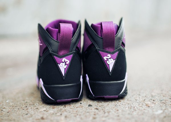 Basket Nike Air Jordan 7 Black Fuchsia Glow Mulberry Wolf Grey (femme) (4)