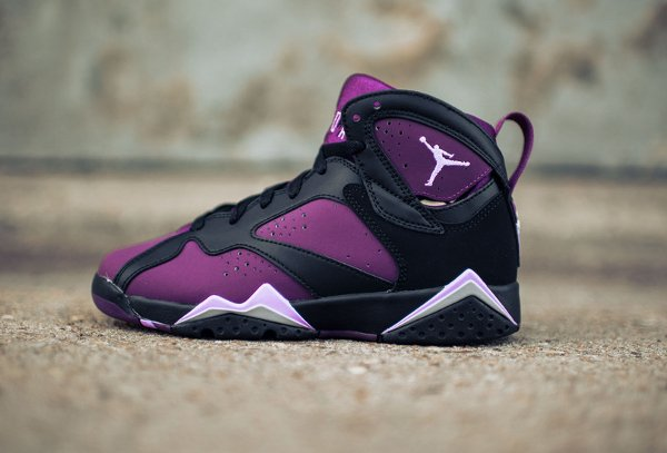 Basket Nike Air Jordan 7 Black Fuchsia Glow Mulberry Wolf Grey (femme) (8)