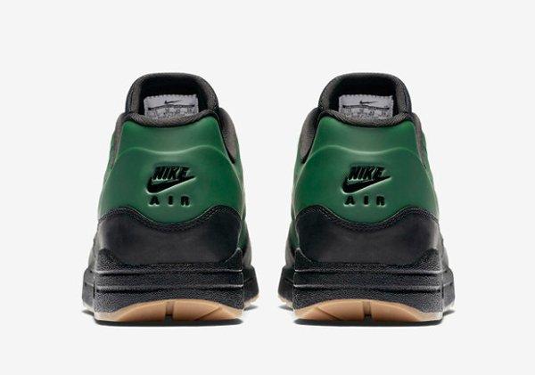 Basket Nike Air Max 1 verte et noire avec semelle gomme (5)