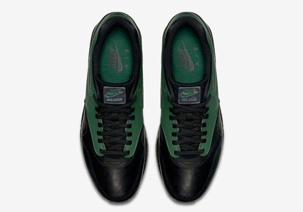 Basket Nike Air Max 1 verte et noire avec semelle gomme (6)