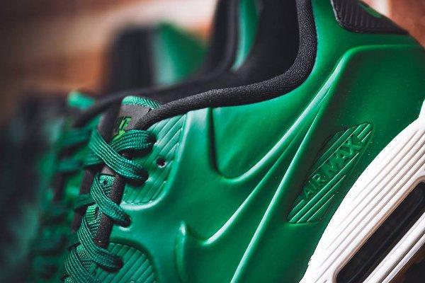 Basket Nike Air Max 90 Vac Tech verte avec semelle en gomme (3)