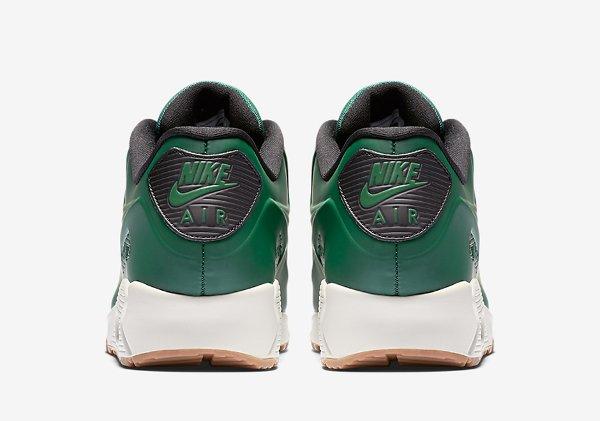 Basket Nike Air Max 90 Vac Tech verte avec semelle en gomme (8)