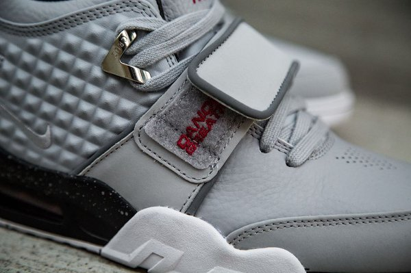 Basket Nike Air Trainer Victor Cruz gris métallique (2)