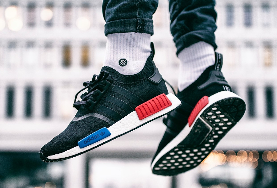 Chaussure Adidas NMD R1 Primeknit PK OG 'Core Black' (homme) (2)