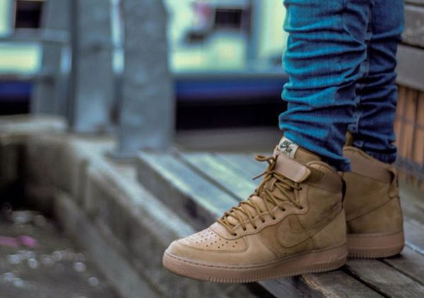 Nike Air Force 1 High 07 LV8 Suede Flax Wheat | Sneakers actus
