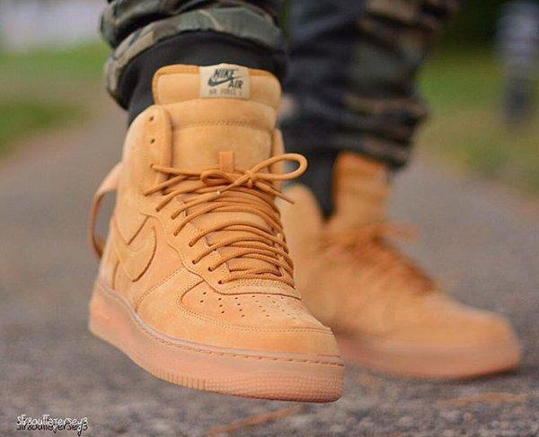 Nike Air Force 1 High 07 LV8 Flax Wheat pas cher (4)