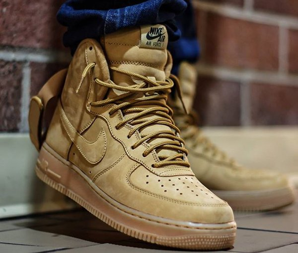 nike air force 1 high 07 lv8 suede flax wheat sneakersactus