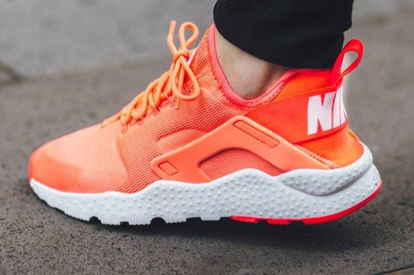 Nike Air Huarache Ultra Run Bright Mango pas cher (4)