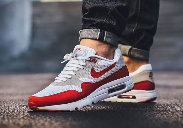 Nike Air Max 1 Ultra Essential OG White Red pas cher (2)
