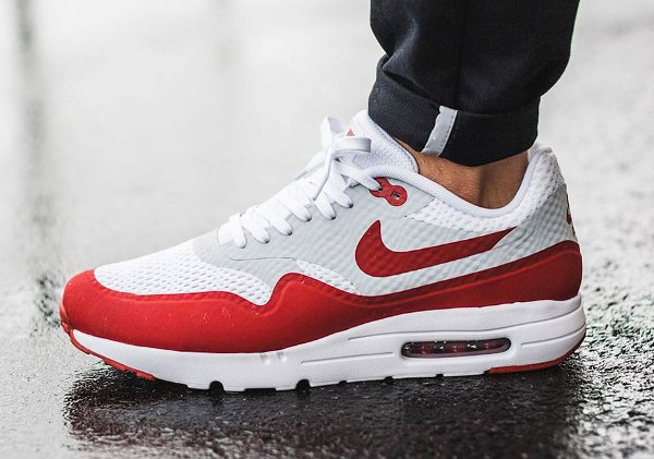 Nike Air Max 1 Ultra Essential OG White Red pas cher (3)