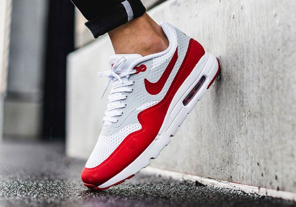 Nike Air Max 1 Ultra Essential OG White Red pas cher (4)