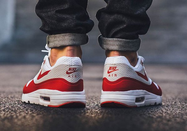 Nike Air Max 1 Ultra Essential OG White Red pas cher (6)