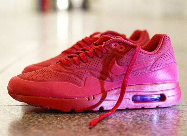 Nike Air Max 1 Ultra Moire Triple Red Ruby pas cher (2)