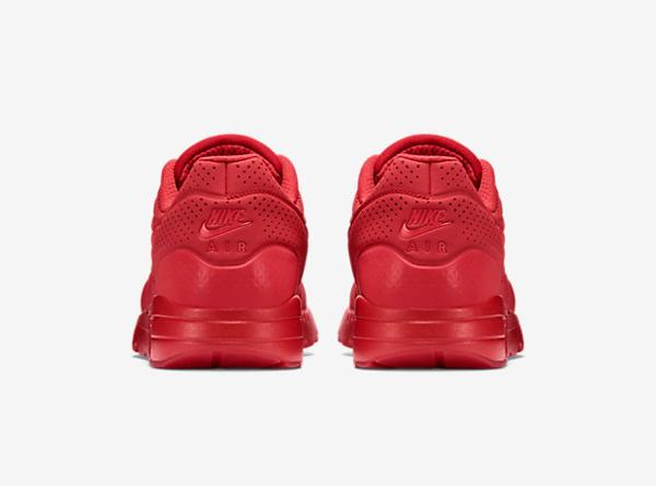 Nike Air Max 1 Ultra Moire cuir perforé rouge (5)