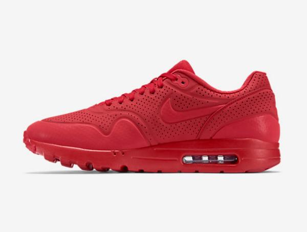 Nike Air Max 1 Ultra Moire cuir perforé rouge (6)