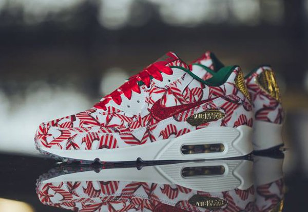 Nike Air Max 90 Christmas Gift Wrapped QS pas cher (2)