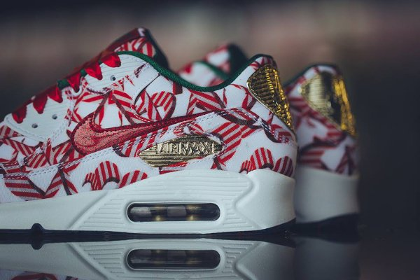 Nike Air Max 90 Christmas Gift Wrapped QS pas cher (3)
