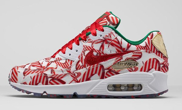 Nike Air Max 90 Christmas Gift Wrapped QS pas cher (5)