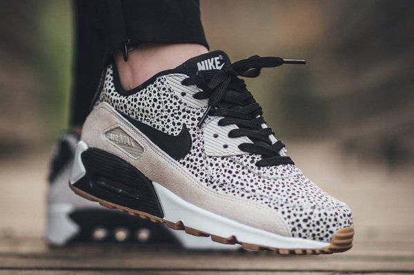 Nike Air Max 90 Safari White Black-Gum Light Brown (1)