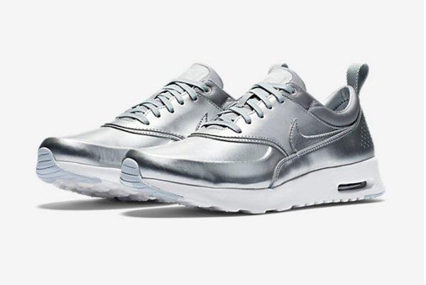 Nike Air Max Thea PRM Metallic Silver pa cher pour femme (5)