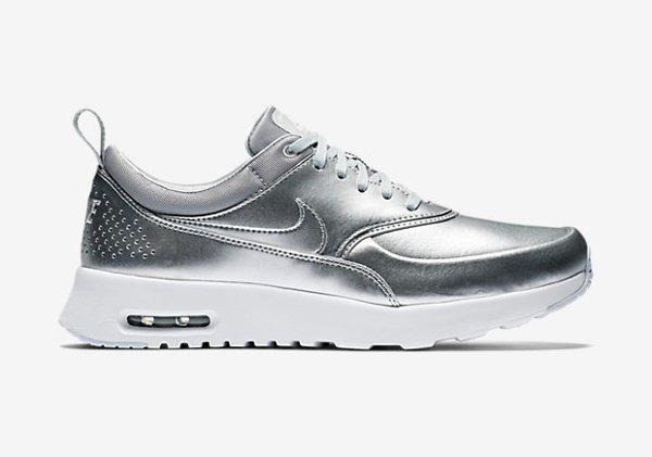 Nike Air Max Thea PRM Metallic Silver pa cher pour femme (7)