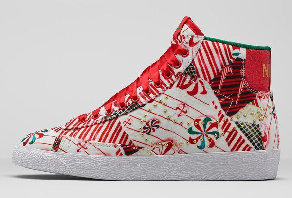 Nike Blazer Mid Christmas Gift Wrapped QS pas cher (7)