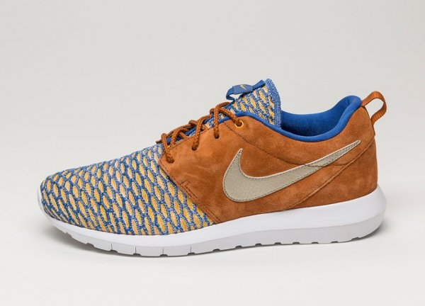 Nike Roshe Flyknit NM Metallic Gold Grain