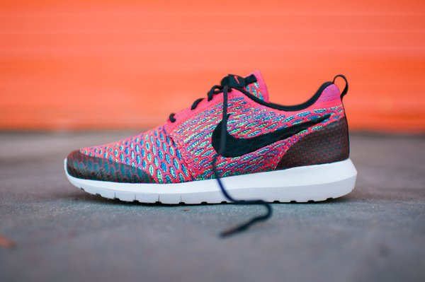 Nike Roshe Flyknit NM SE Multicolor Bright Crimson pas cher (4)