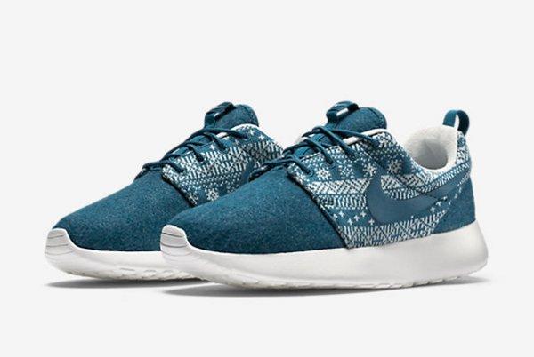Nike Wmns Roshe One Winter Brigade Blue (1)