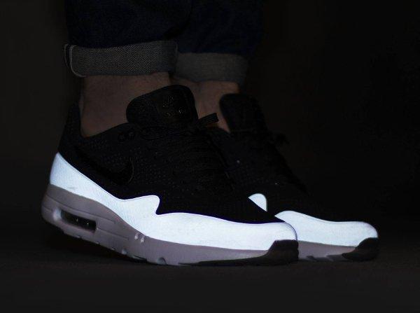 basket Nike Air Max 1 Ultra Moire Split Black White pas cher (3)