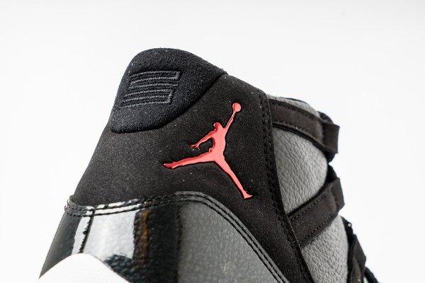 basket air jordan 11 black gym red (10)