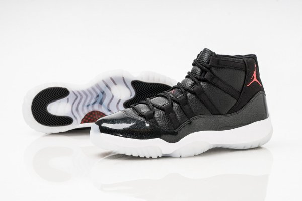 basket air jordan 11 black gym red (8)