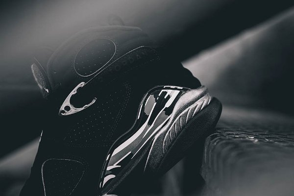 chaussure air jordan 8 retro black white light graphite (11)
